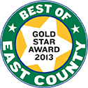 Best of East County Gold Star Award 2013