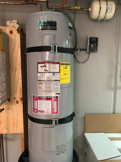 water heater with earthquake strap