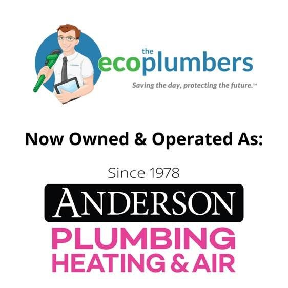 Eco Plumbers and Anderson Logos