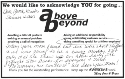 Above and Beyond Recognition