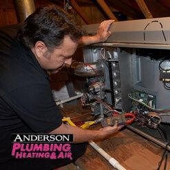 Anderson Tech performing AC HERS testing