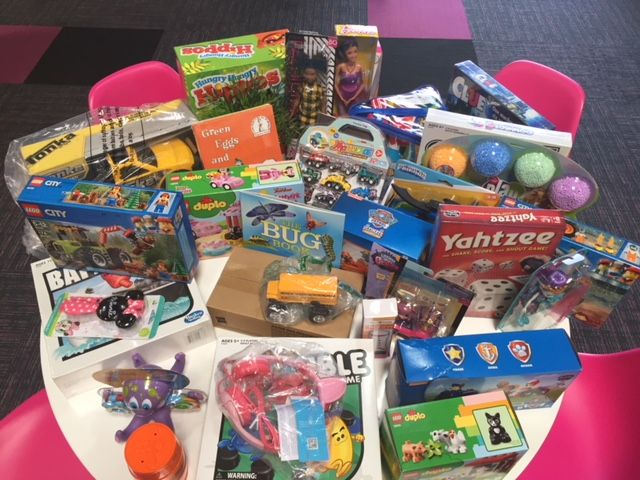 Toys Collected in the Toy Drive